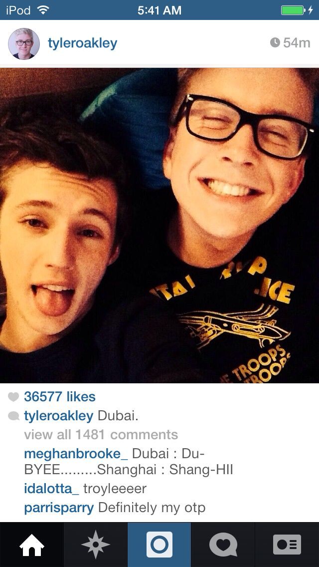 Is Tyler Oakley dating Troy