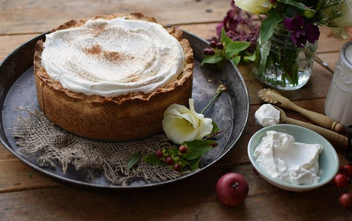 Apfelkuchen mit Zimt-Creme: An apple a day...