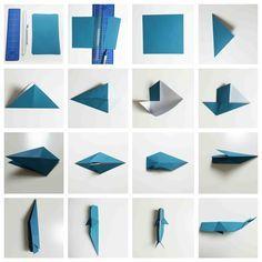 Origami Wal #falten #Howto #Wal #Papier #Meeresbewohner #Falttechnik #Freewilly #Blauwal #Seashepert #Whale #folt #maritim