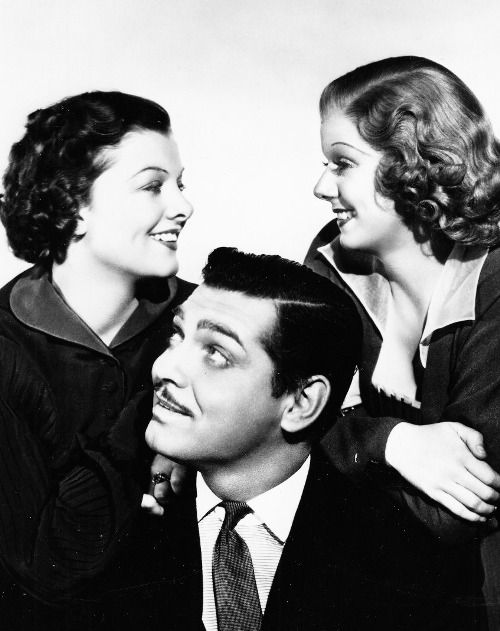Jean Harlow, Myrna Loy and Clark Gable in Wife vs Secretary (1936).