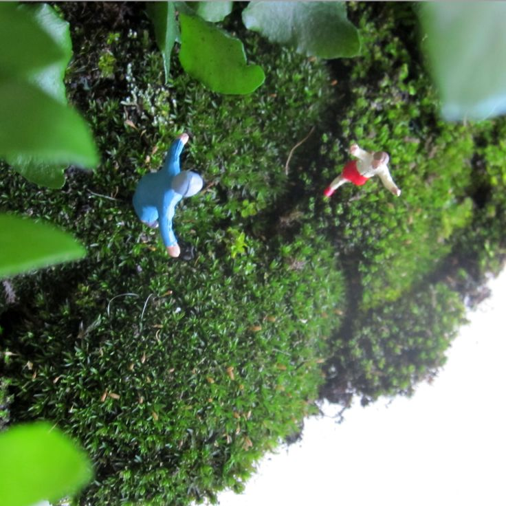 Granny and granddaughter are reunited inside a terrarium filled with moss - custom orders for your family are available now.