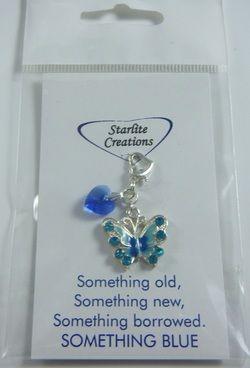 """Something Blue"" Bridal Charms www.starlitecreations.com.au"