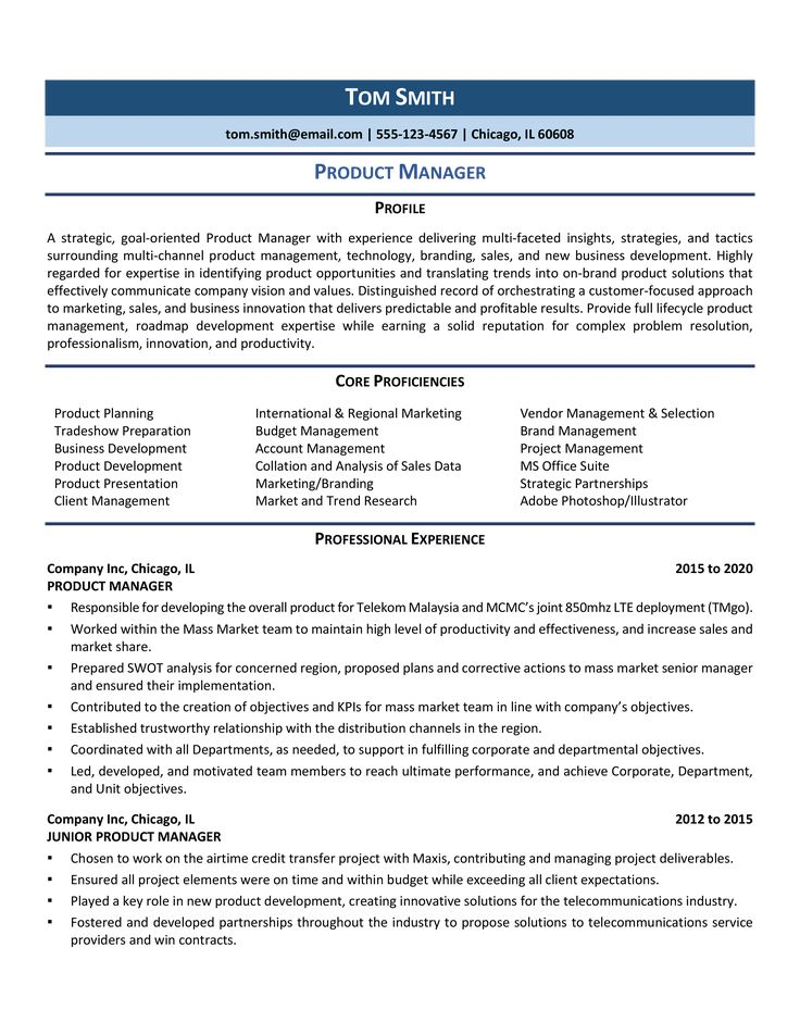 Product Manager Resume Samples & Template for 2020 in