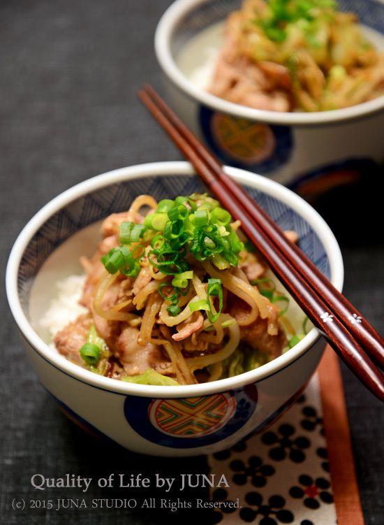 キャベツ&もやし&豚肉の簡単みそ風味丼|JUNAオフィシャルブログ「Quality of Life by JUNA」Powered by Ameba