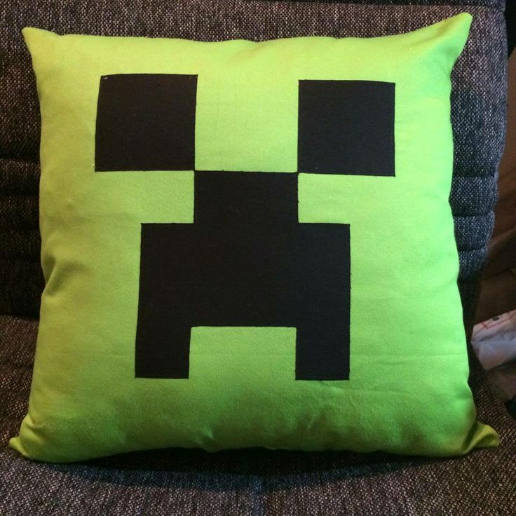 Minecraft cushion made for my son