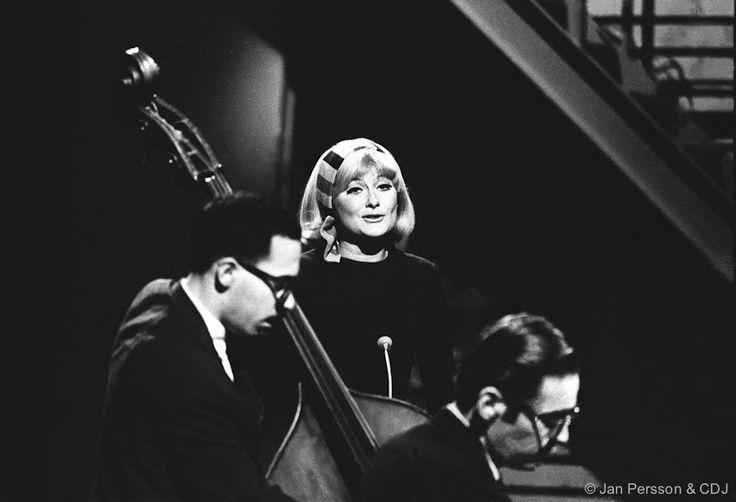 Eddie Gomez, Monica Zetterlund and Bill Evans,TV-studio Copenhagen 1966.
