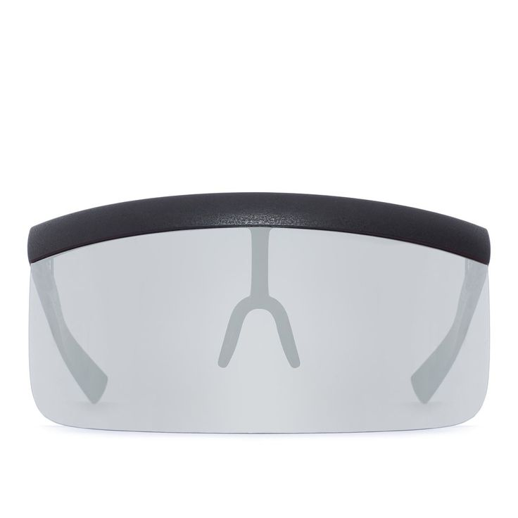 Daisuke sun visor from Mykita collection in collaboration with Bernhard Willhelm in pitch black