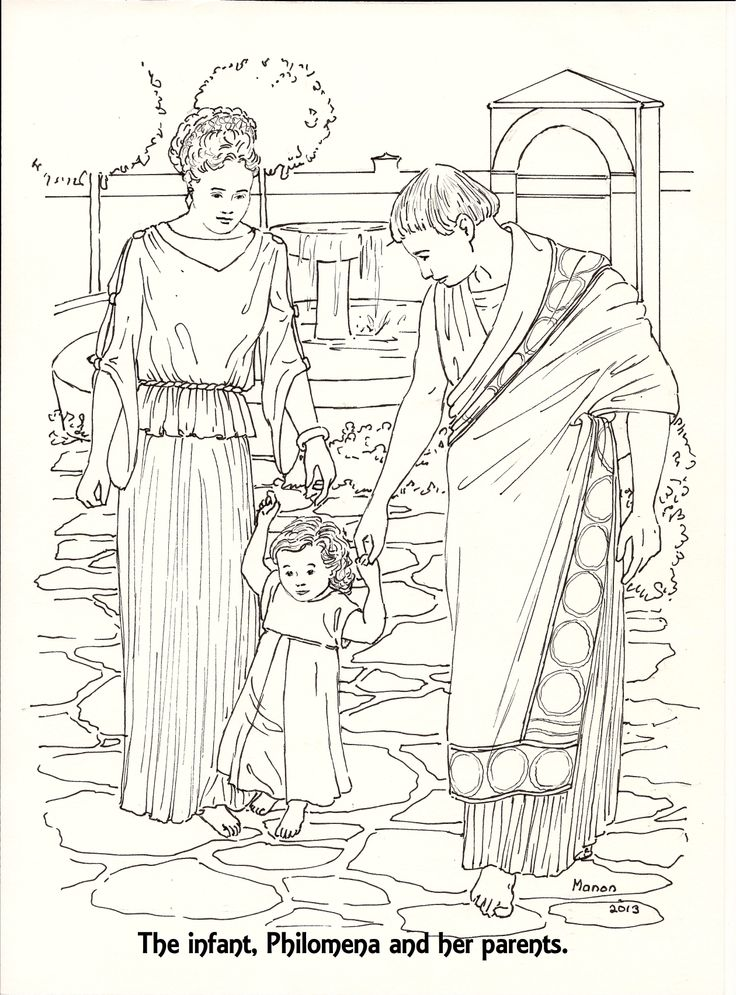 St Philomena A Page To Colour The Infant Philomena And Her