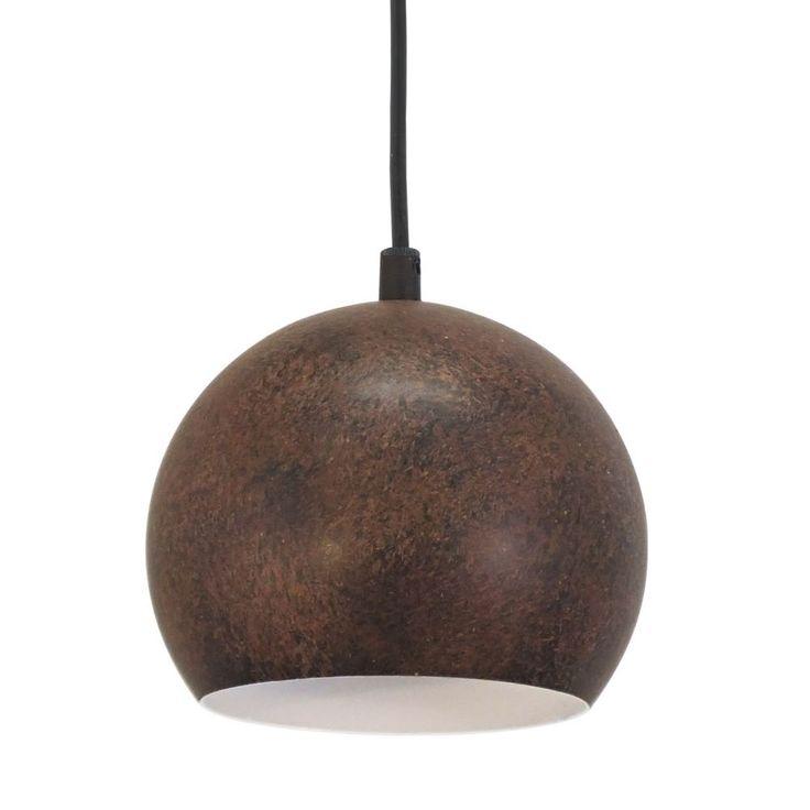 Kitchen Pendulum Fittings - Vintage Rust Coloured Globe Pendant Light. £31 x3