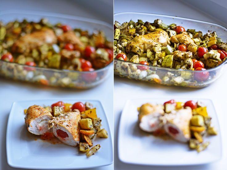 Przepis na szybki i prosty obiad, nadziewana pierś z kurczaka, przepis na obiad, szybki obiad, pierś z kurczaka na obiad