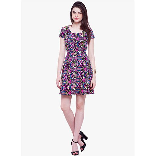 Khazanakart New Elegant European and American Women's Western Wear Multi color Dress Material.