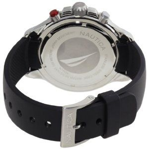 Nautica Men's N14536 NST Stainless Steel And Black Resin Watch