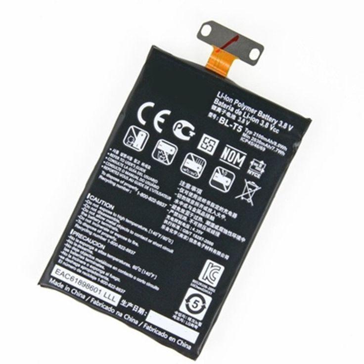 Originele mobiele telefoon batterij bl-t5 voor lg google nexus 4 e960 e975 e973 e970 f180 bl t5 2100 mah vervanging batterijen