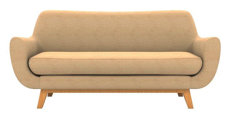 Brosa Filip 2 Seater Scandinavian Style Sofa - Sandstone | $949.00