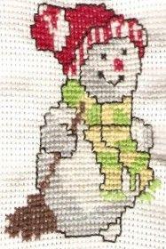 Sněhulák #embroidery