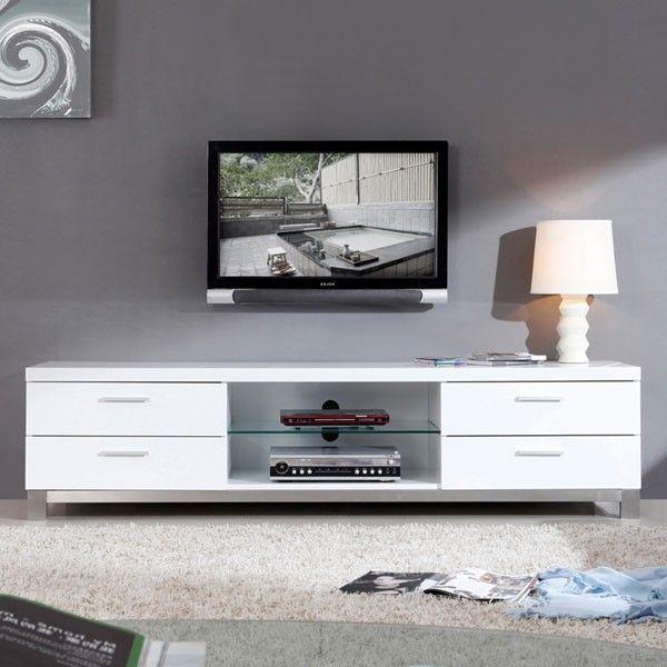 B Modern Promoter 79 High Gloss White Tv Stand Bm 120 Wht Desain