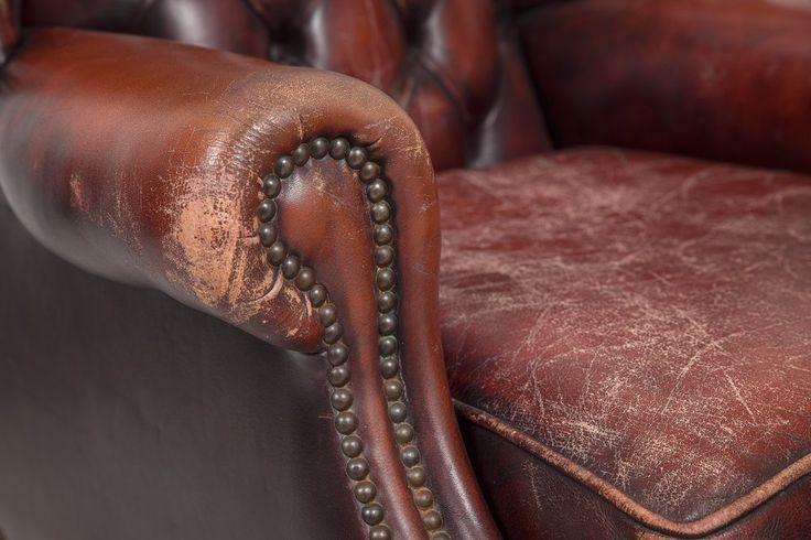 cuir craquelé fauteuil | Rénover un vieux fauteuil en cuir
