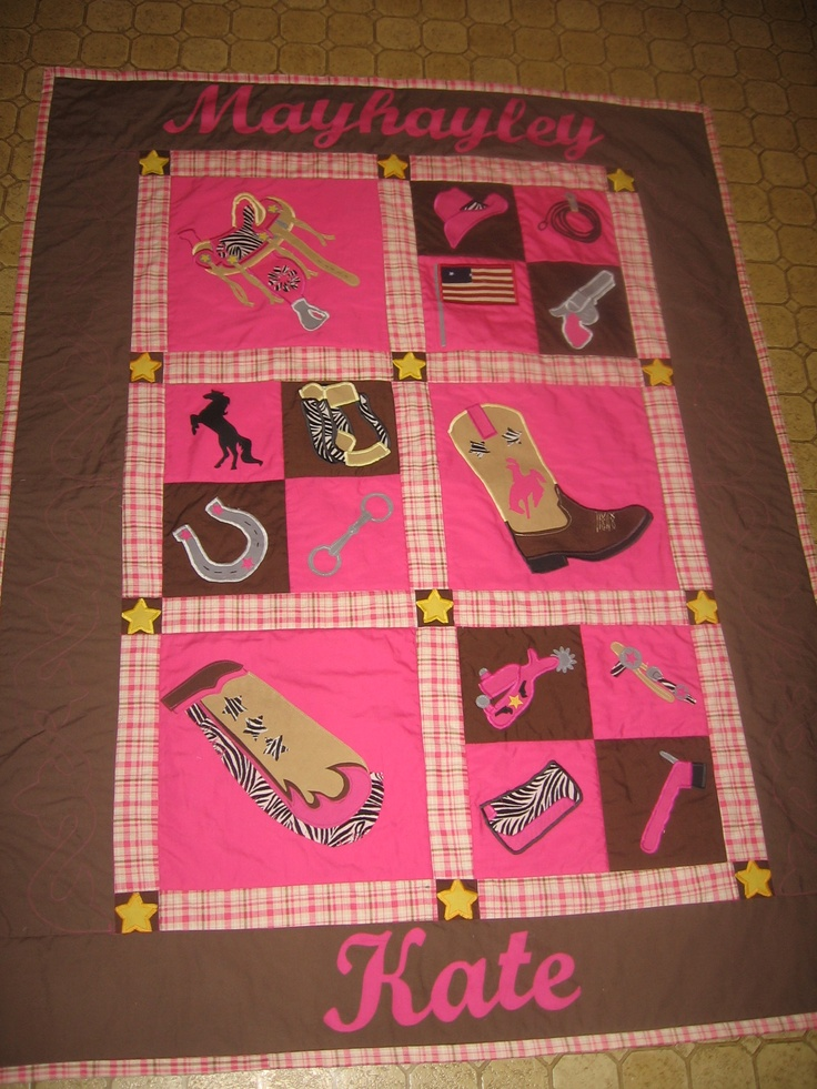 Cowgirl Quilt Made For Our New Baby Quilting
