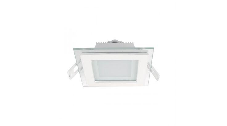 Beépíthető álmennyezeti DESIGN üveg led panel 6W 2700-3000k meleg fehér 100x100mm ,Beépíthető / süllyeszthető led panelek,2.790 Ft