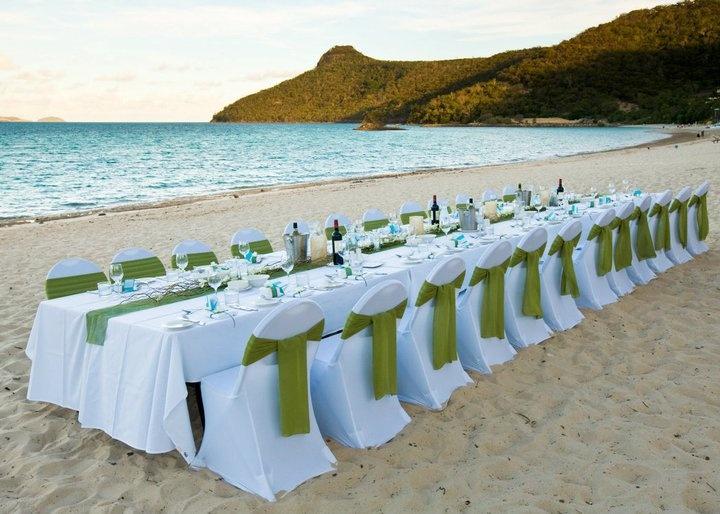 Hamilton Island Wedding Beach Table Setting, #Australia, #Hamiltonisland, #paradise, #island