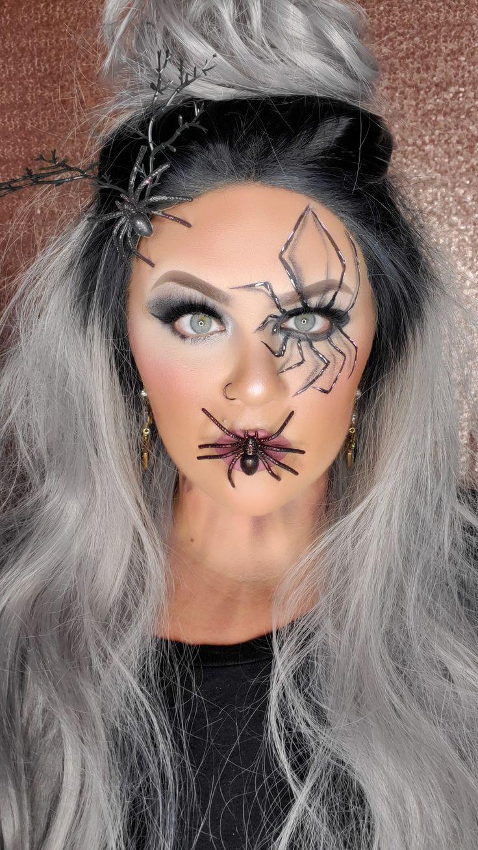 Glam Halloween makeup look Halloween makeup, Halloween