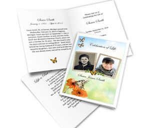 This versatile funeral card template makes a great memorial service invitation as well as a keepsake.  Double Frame Clipart makes this invitation special