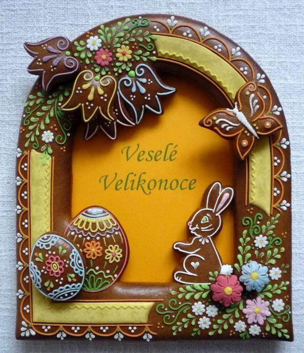 Czech Easter gingerbread cookie