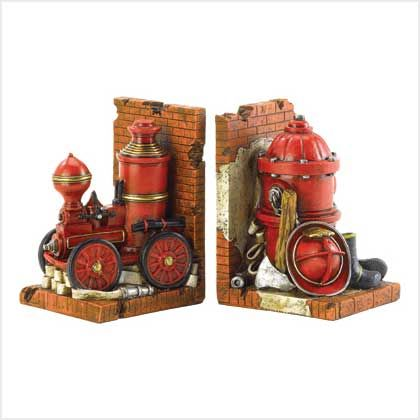 Firefighter Bookends