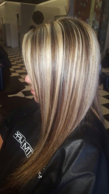 Chunky Blonde Highlights Hair Hair Hair Pinterest