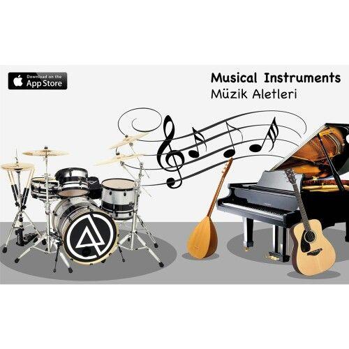 Maybe your kid will be the Mozart of 2020's! Children will learn the name of the musical instruments and listen to the sounds they make! For children 2+  Belki de geleceğin Mozart'ı şu anda yan odada uyuyor! Bu uygulamayla çocuklarınız müzik aletlerinin isimlerini öğrenirken onlardan çıkan sesleri de tanıyacaklar! 2 yaş üzeri çocuklarımız içindir.