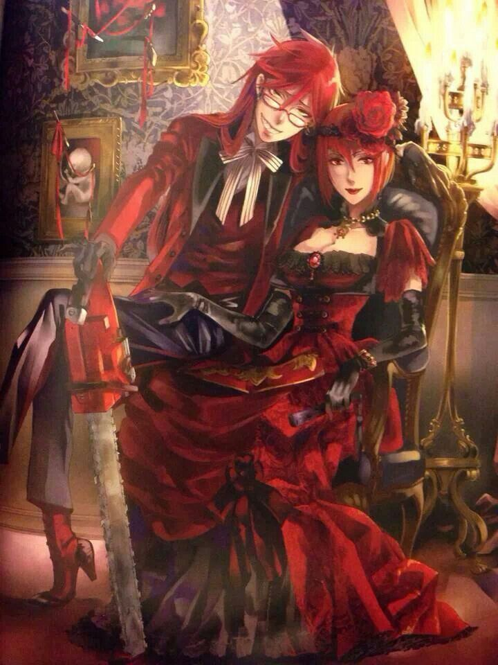 Grell sutcliff and madame red - Can we all take a moment to notice there is a famed fetus on the wall?