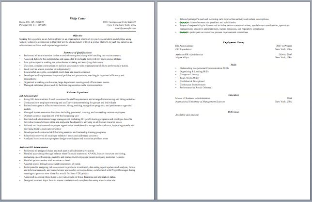Contract Administrator Resume Administrative Resume Samples - barista job description resume
