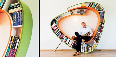 Bookworm Chair. Oh, I want this so hard. Need larger house. Need more money. But all is spent on books!