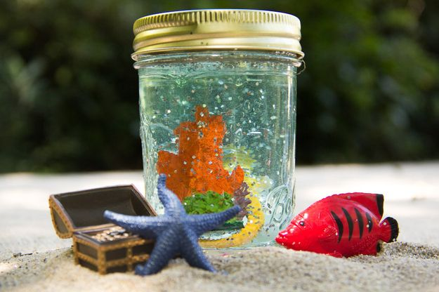 Mason Jar Snow Globes / Soleil Moon Frye's 9 Favorite DIY Projects For The Whole Family (via BuzzFeed)
