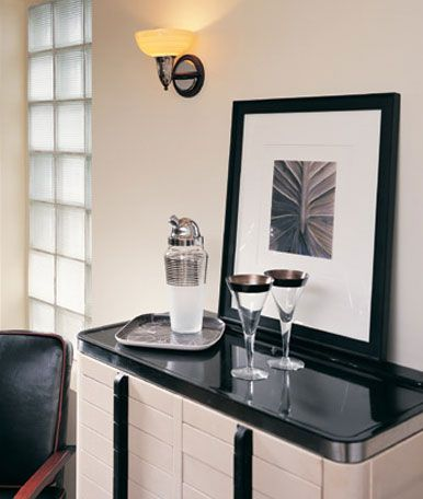 Art Deco bar for your living room. #zincdoor #artdeco