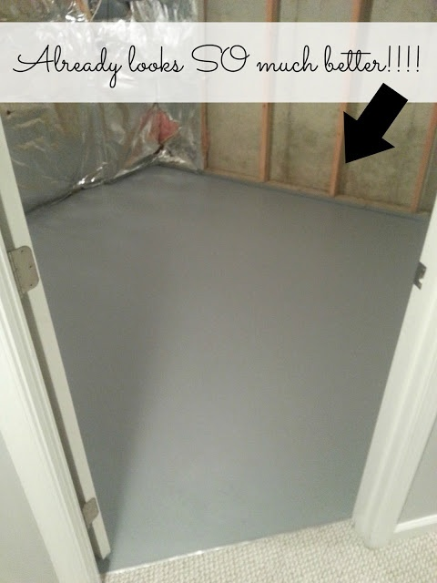 How to paint a concrete floor cleaning pinterest for How to clean concrete subfloor