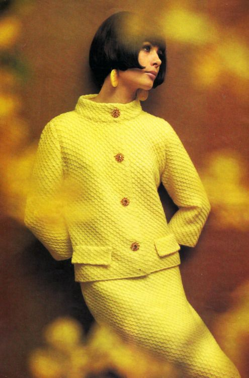 Yellow. 1960's Fashion. #modcloth #styleicon