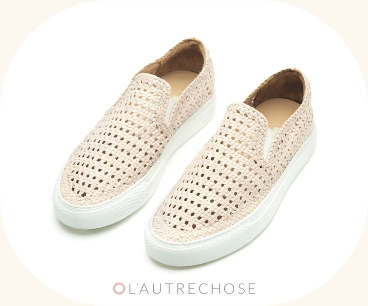 L'Autre Chose #sneakers in a lovely blush tone! #lautrechose #shoes #slipon #fashion #ss15 #trend #spring #summer #trainers #womanfashion #blush