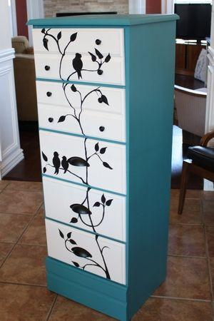 An old dresser makeover!                                                                                                                                                      More