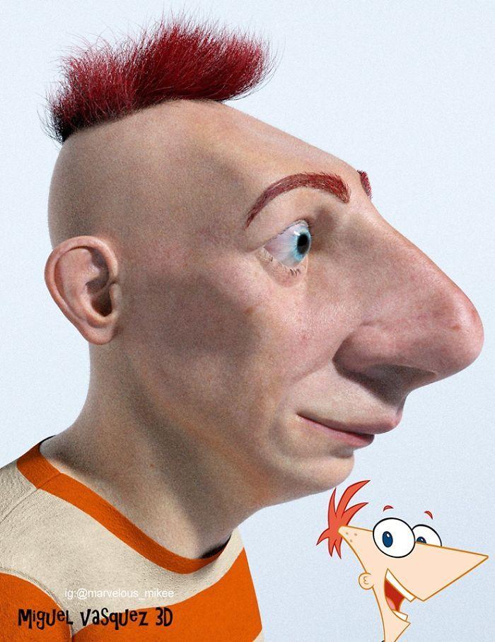 Phineas Cartoon Network Characters Realistic Cartoons Favorite