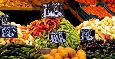 Food market in Hungary. Photo via Flickr:barockschloss