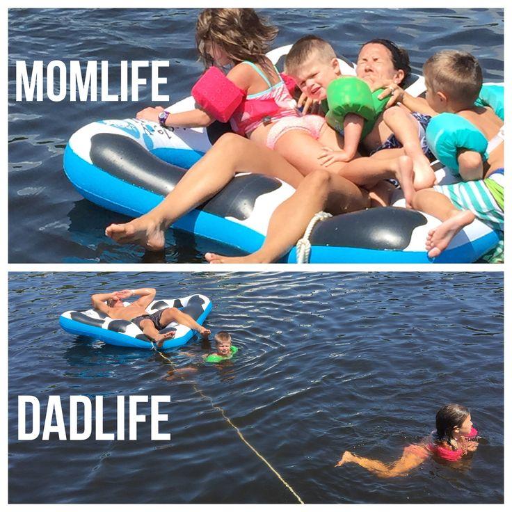 Mom life vs. dad life. #thestruggleisreal