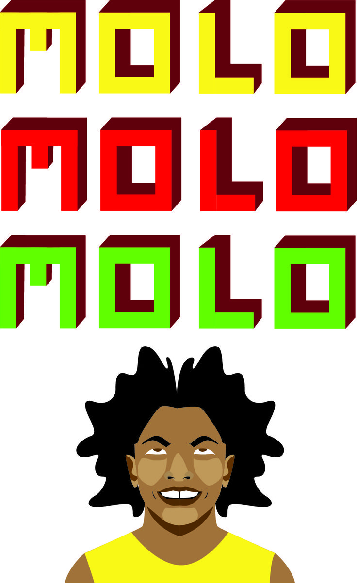 Molo, a beautiful word that initiates conversations, friendships and relationships. I Love the Xhosa language. A piece i made in celebration of my dialect.