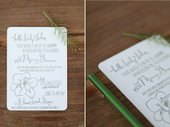 32 best wedding invitations images on pinterest bridal invitations magnolia southern charm letterpress bridal luncheon invitations filmwisefo Gallery