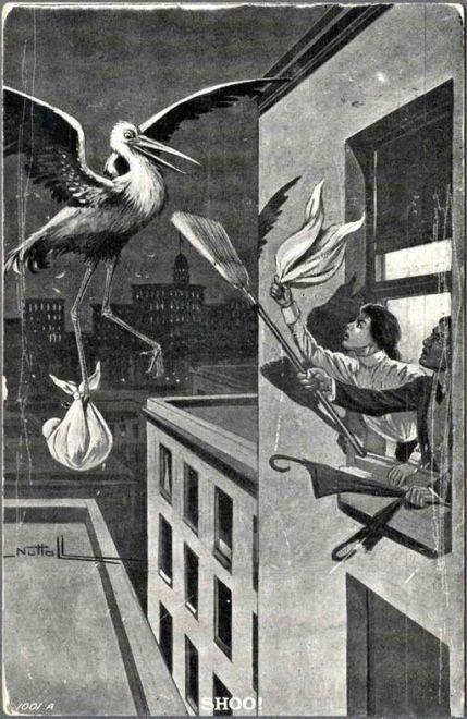 Vintage Birth Control!  Just get a broom!
