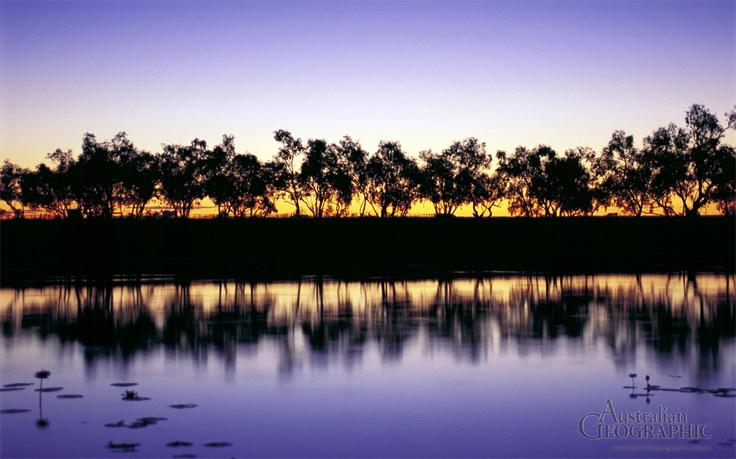 Georgina River near Camooweal, Qld. JHa