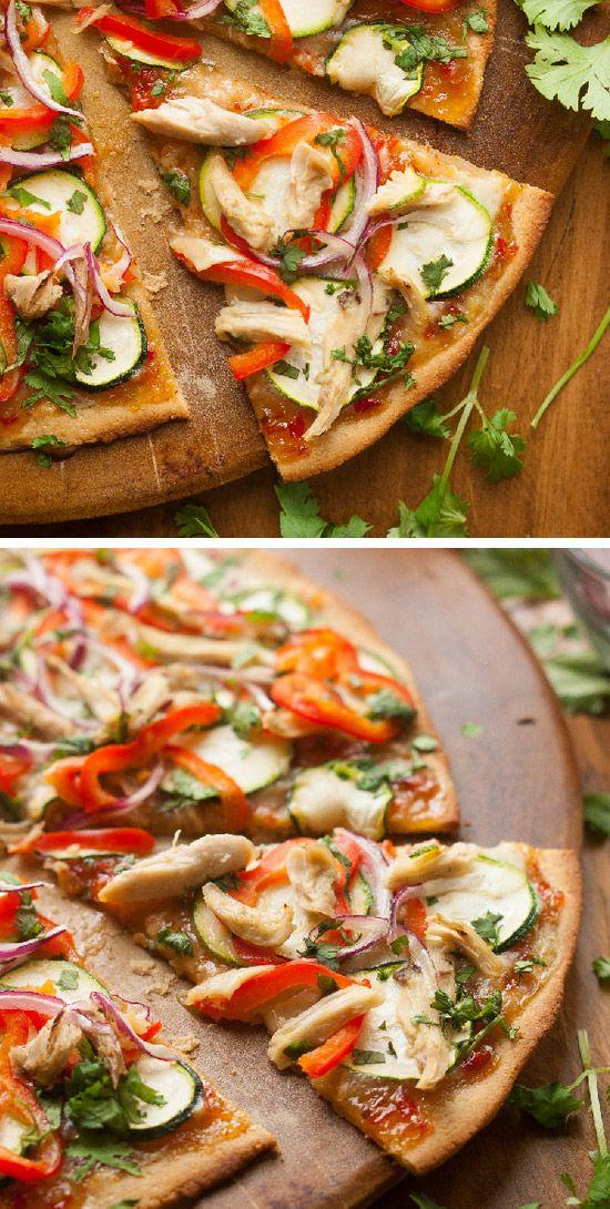 Top 10 Flour Less Healthy And Creative Paleo Pizza Recipes - Paleo Thai Chicken Pizza Recipe
