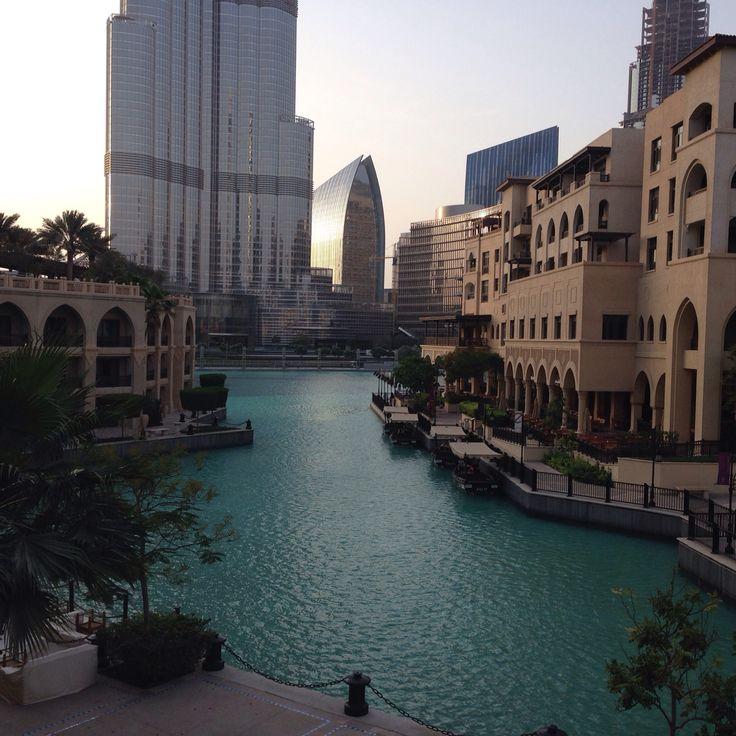 Downtown Dubai - view fron Souk al Bahar