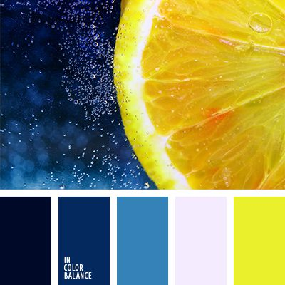 Love the pairing of the deep blues with the yellow and pale pink.