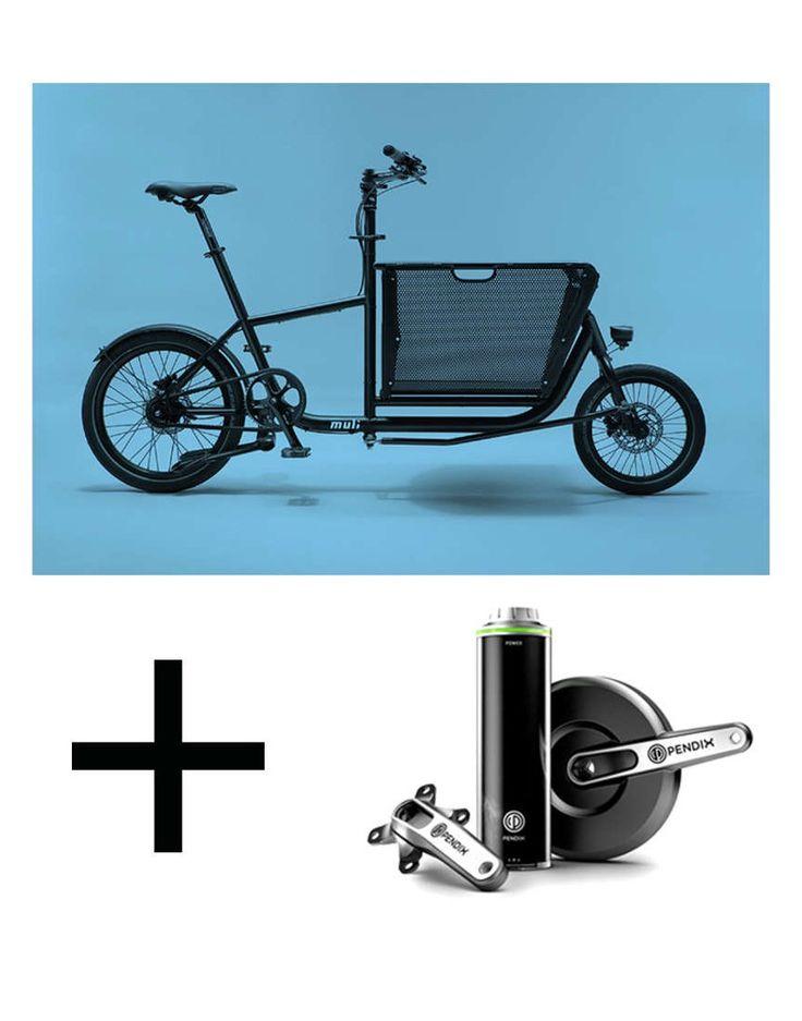 Das e-muli ist ausgestattet mit einem Pendix Mittelmotor. Damit vereint es Kompaktheit und elektrische Mobilität. ✓ Faltbarer Lastenkorb ✓ Pendix Mittelmotor
